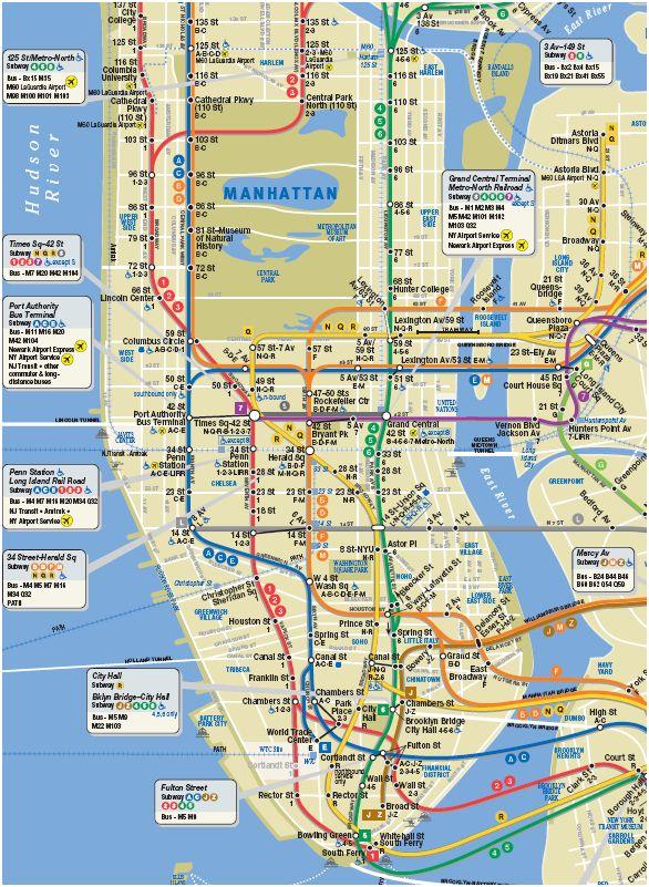 ニューヨークの地下鉄マップ地図subway map
